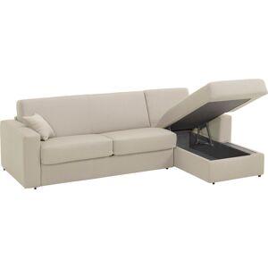 Canapé d'angle rapido convertible SAVOY tissu blanc - Publicité