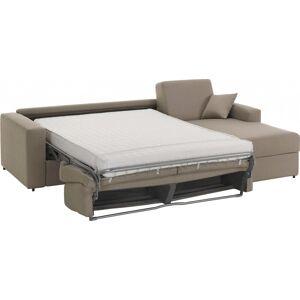 Canapé d'angle rapido convertible SAVOY tissu châtaigne - Publicité