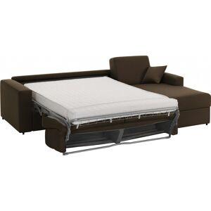 Canapé d'angle rapido convertible SAVOY tissu chocolat - Publicité