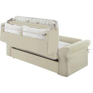 Canapé rapido 2 places convertible OCEANIA tissu blanc - Publicité