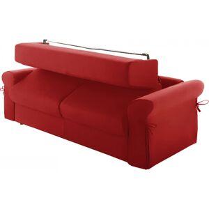 Canapé rapido 4 places convertible OCEANIA tissu rouge - Publicité