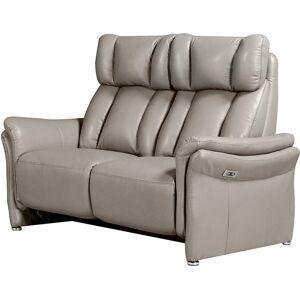 Canapé 2 places relax électrique gris clair COLIN - Publicité