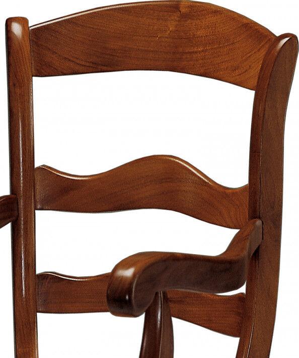 Fauteuil merisier 3 barreaux assise paille