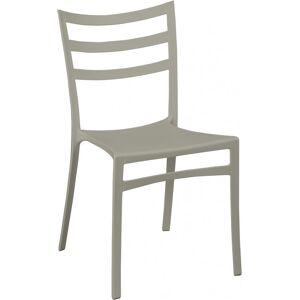 Chaise polypropylène gris clair - Publicité