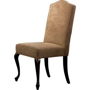 Chaise hêtre massif tapissée châtaigne pieds chippendale - Publicité