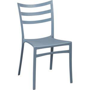 Chaise polypropylène gris bleu - Publicité