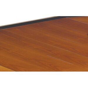 Table ovale merisier L180 pieds sabre 2 allonges - Publicité