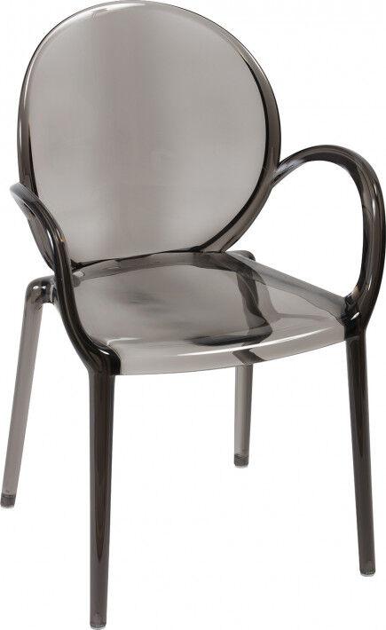 Chaise médaillon polycarbonate fumé