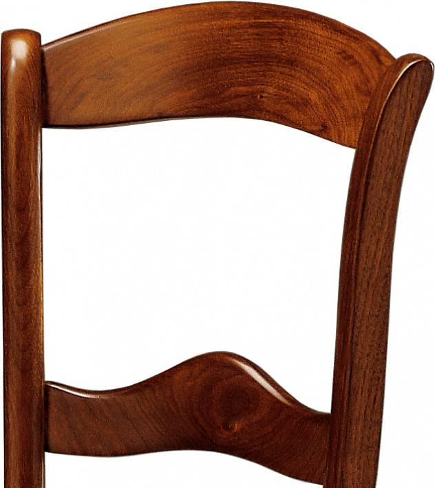 Chaise merisier 2 barreaux assise paille