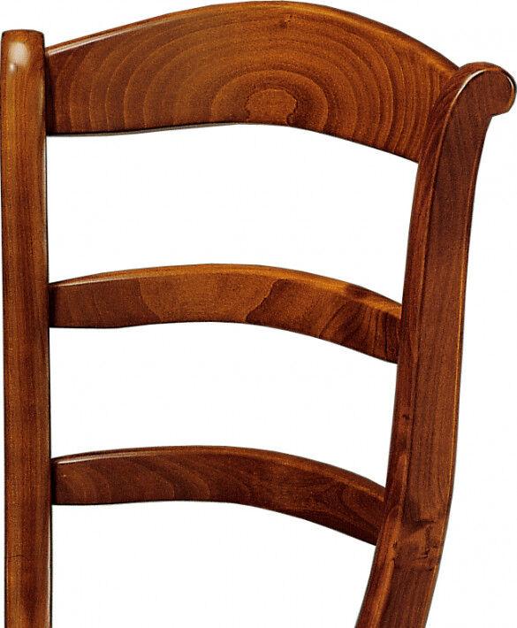 Chaise merisier 3 barreaux assise paille