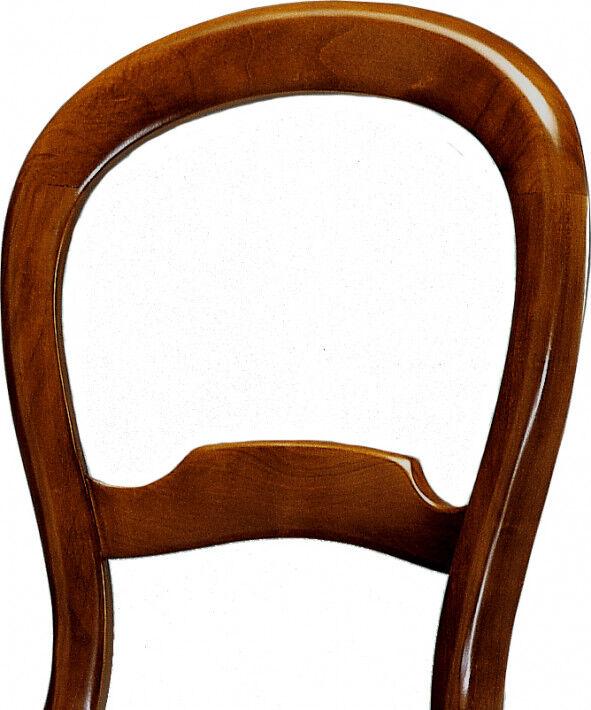Chaise merisier dossier violon assise paille