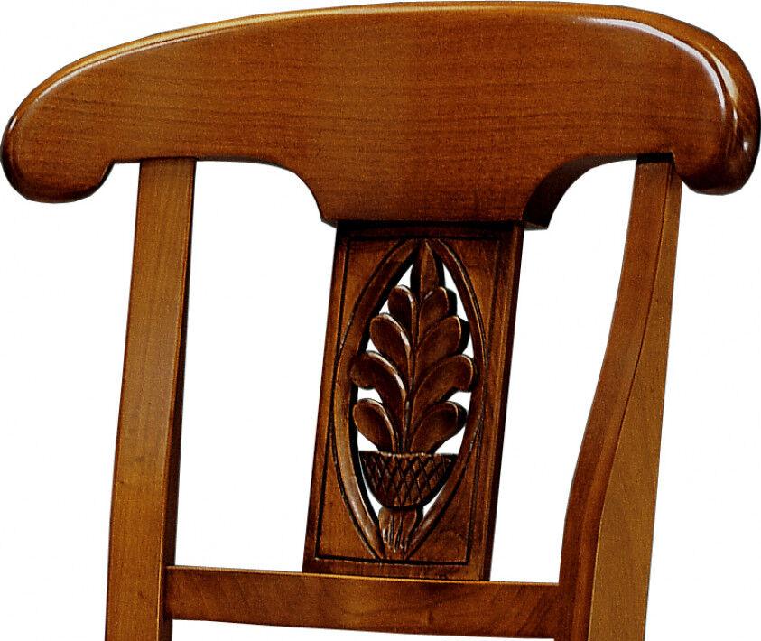 Chaise merisier palmette assise paille
