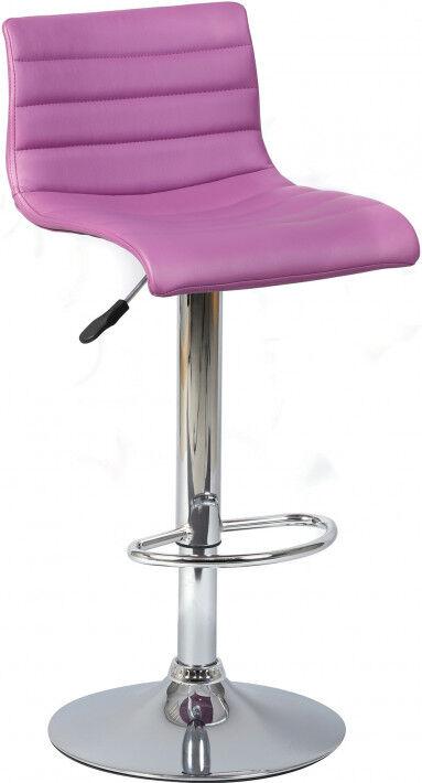 Tabouret de bar design PVC violet assise rotative réglable
