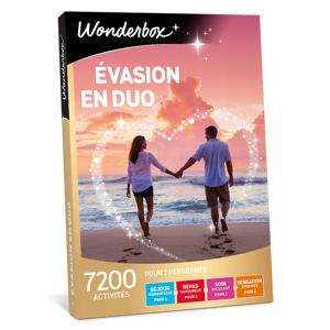 Wonderbox Coffret cadeau - Évasion en duo - Restaurant & Gastronomie - Publicité