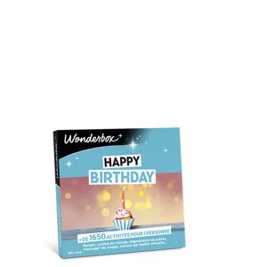 Wonderbox Coffret cadeau - Happy Birthday - Restaurant & Gastronomie - Publicité