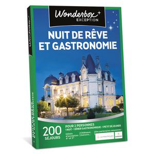 Wonderbox Coffret cadeau - Nuit de rêve et gastronomie - Séjour & week-end - Publicité