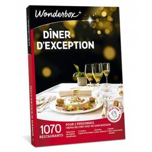 Wonderbox Coffret cadeau - Dîner d'exception - Restaurant & Gastronomie - Publicité