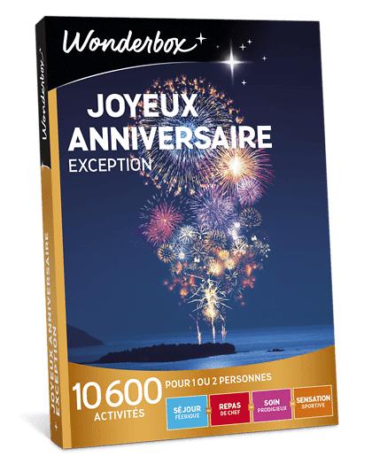 Wonderbox Coffret cadeau - Joyeux anniversaire Exception - Beauté & bien-être