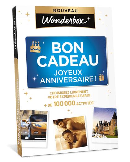 Wonderbox Coffret cadeau - Bon Cadeau Joyeux Anniversaire ! - Restaurant & Gastronomie
