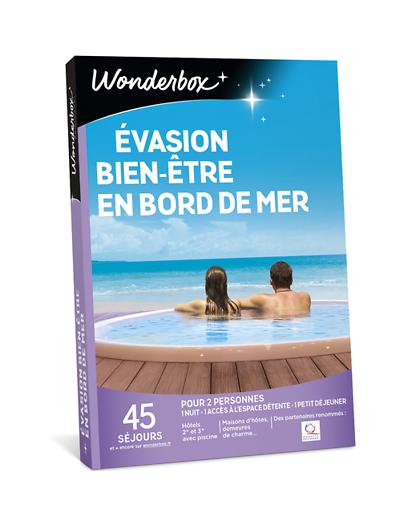 Wonderbox Coffret cadeau - Évasion bien-être en bord de mer - Séjour & week-end