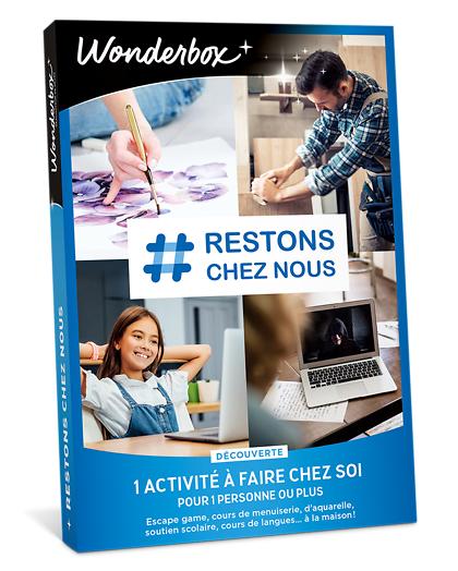 Wonderbox Coffret cadeau - # Restons chez nous - découverte - Sport & Aventure