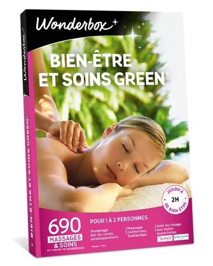 Wonderbox Coffret cadeau - Bien-Être et Soins Green - Beauté & bien-être