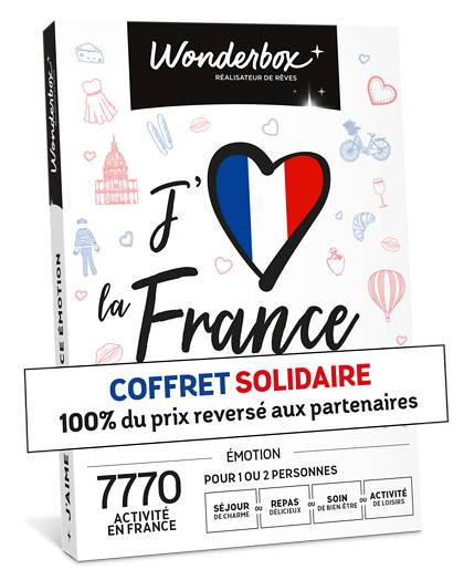 Wonderbox Coffret cadeau - J'aime la France Émotion - Beauté & bien-être