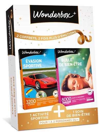Wonderbox Coffret cadeau - Évasion sportive + Bulle de bien-être - Sport & Aventure