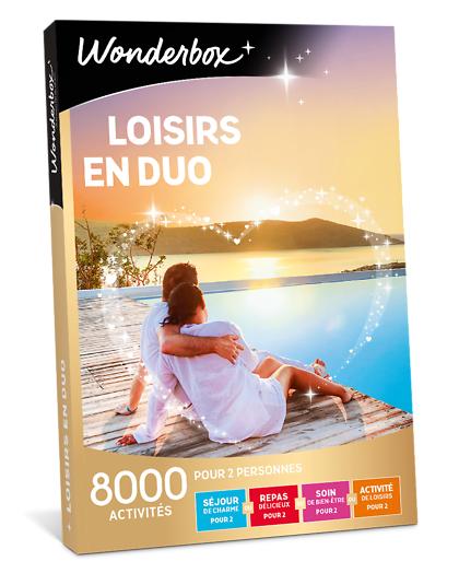 Wonderbox Coffret cadeau - Loisirs en duo - Beauté & bien-être