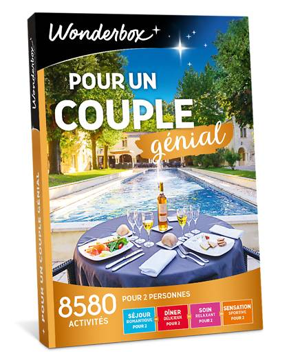 Wonderbox Coffret cadeau - Pour un couple génial - Beauté & bien-être