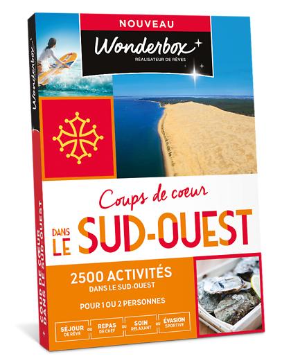 Wonderbox Coffret cadeau - Coup de cur dans le Sud-Ouest - Séjour & week-end