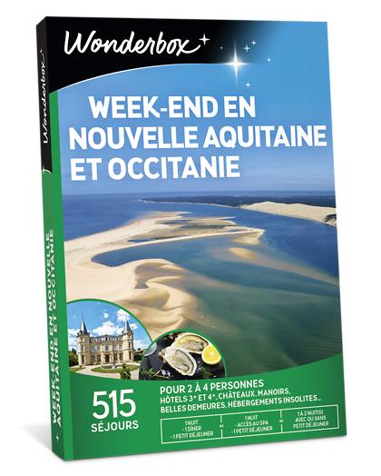Wonderbox Coffret cadeau - Week-end en nouvelle Aquitaine et Occitanie - Séjour & week-end