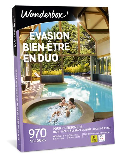 Wonderbox Coffret cadeau - Évasion bien-être en duo - Séjour & week-end