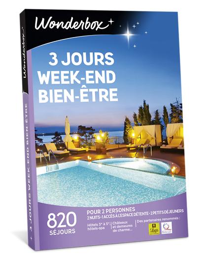 Wonderbox Coffret cadeau - 3 jours week-end bien-être - Séjour & week-end