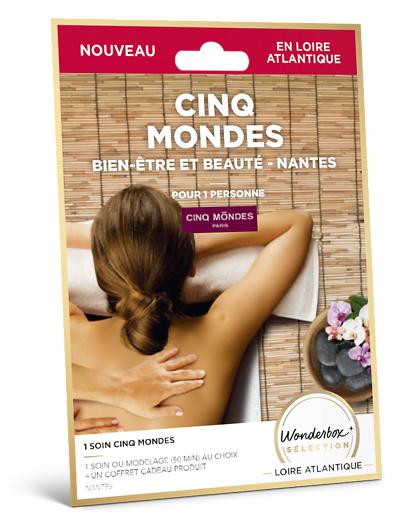 Wonderbox Coffret cadeau - Cinq Mondes - Bien-Être et Beauté - Nantes - Beauté & bien-être