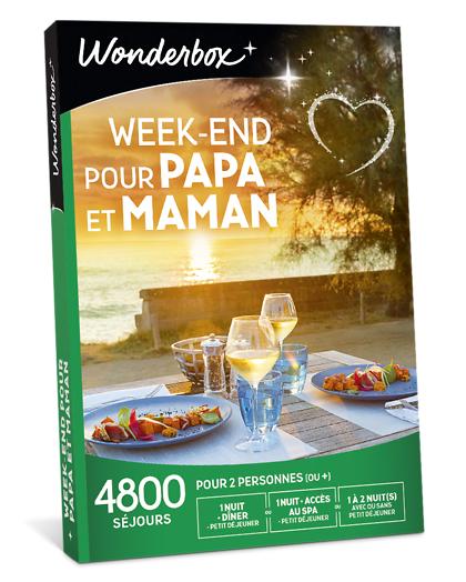 Wonderbox Coffret cadeau - Week-end pour papa et maman - Séjour & week-end