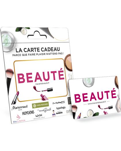 Wonderbox Coffret cadeau - Carte BEAUTÉ - Beauté & bien-être