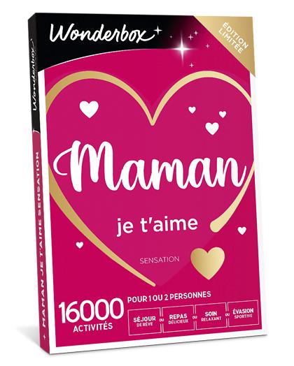 Wonderbox Coffret cadeau - Maman je t'aime Sensation - Beauté & bien-être