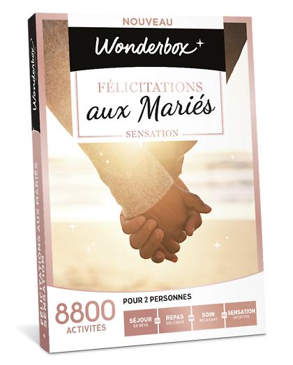 Wonderbox Coffret cadeau - Félicitations aux mariés Sensation - Beauté & bien-être