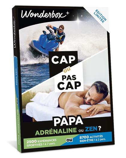 Wonderbox Coffret cadeau - CAP OU PAS CAP - Papa adrénaline ou zen ? - Beauté & bien-être