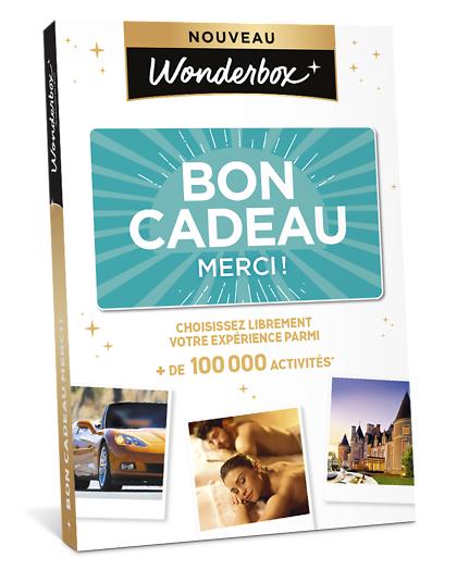 Wonderbox Coffret cadeau - BON CADEAU MERCI - Beauté & bien-être