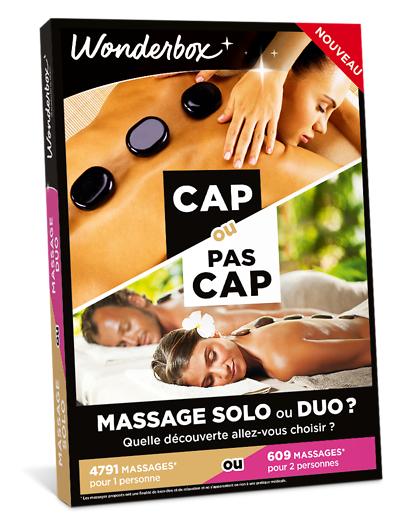 Wonderbox Coffret cadeau - CAP OU PAS CAP - Massage Solo ou Duo - Beauté & bien-être