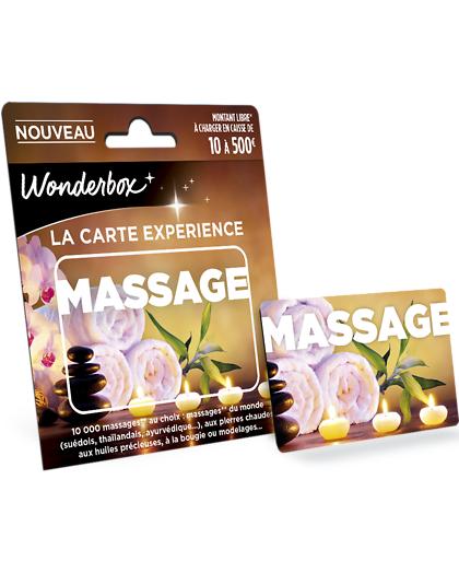 Wonderbox Coffret cadeau - Carte MASSAGE - Beauté & bien-être