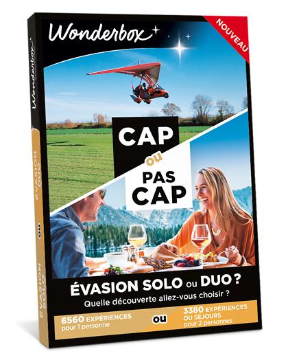 Wonderbox Coffret cadeau - CAP OU PAS CAP - Évasion solo ou duo ? - Beauté & bien-être