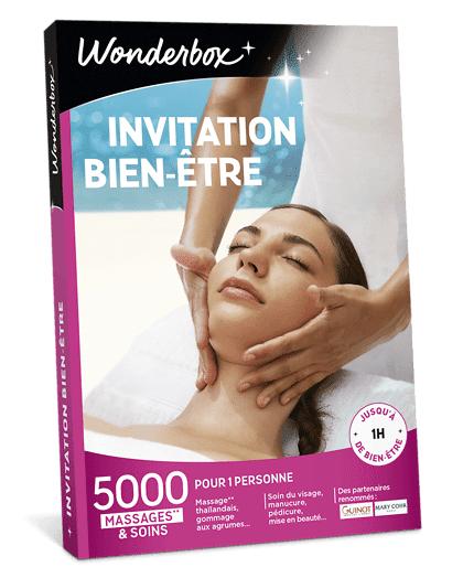 Wonderbox Coffret cadeau - Invitation Bien-Être - Beauté & bien-être