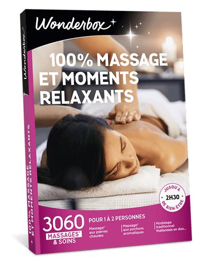 Wonderbox Coffret cadeau - 100% Massage et moments relaxants - Beauté & bien-être