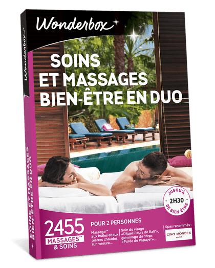 Wonderbox Coffret cadeau - Soins et Massages Bien-Être en duo - Loisirs & sorties