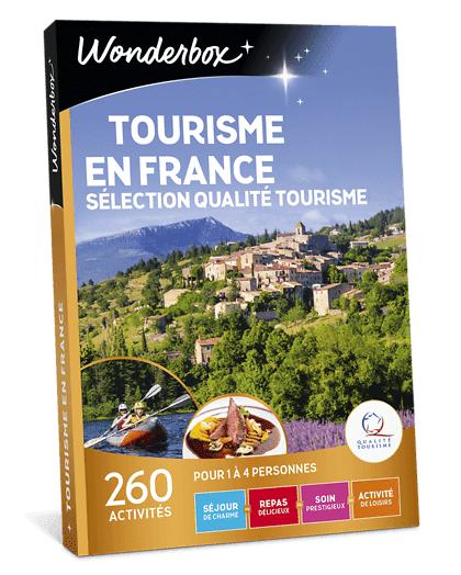 Wonderbox Coffret cadeau - Tourisme en France - Sélection Qualité Tourisme - Beauté & bien-être