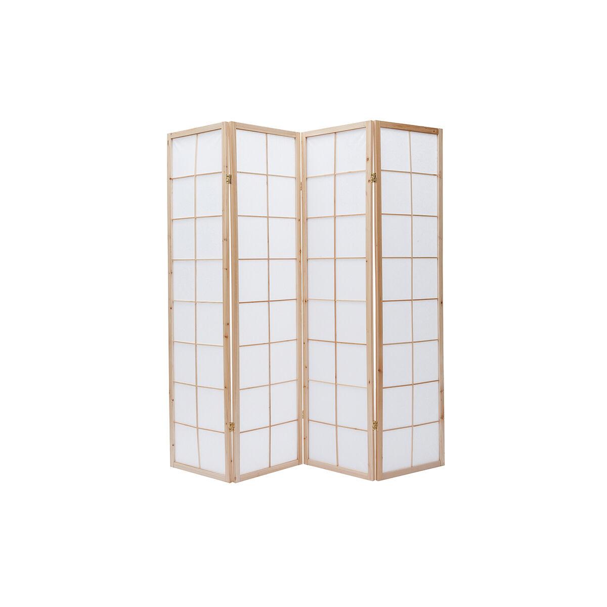 Miliboo Paravent japonais en bois et papier IKUYO