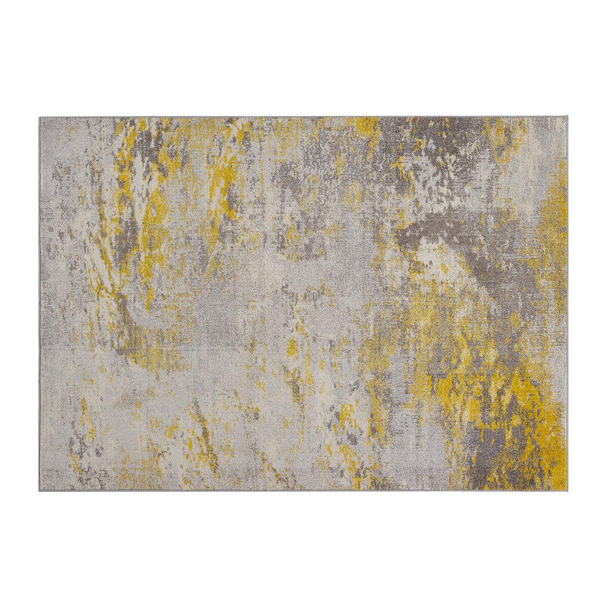 Miliboo Tapis écru et jaune 160 x 230 cm CAPS